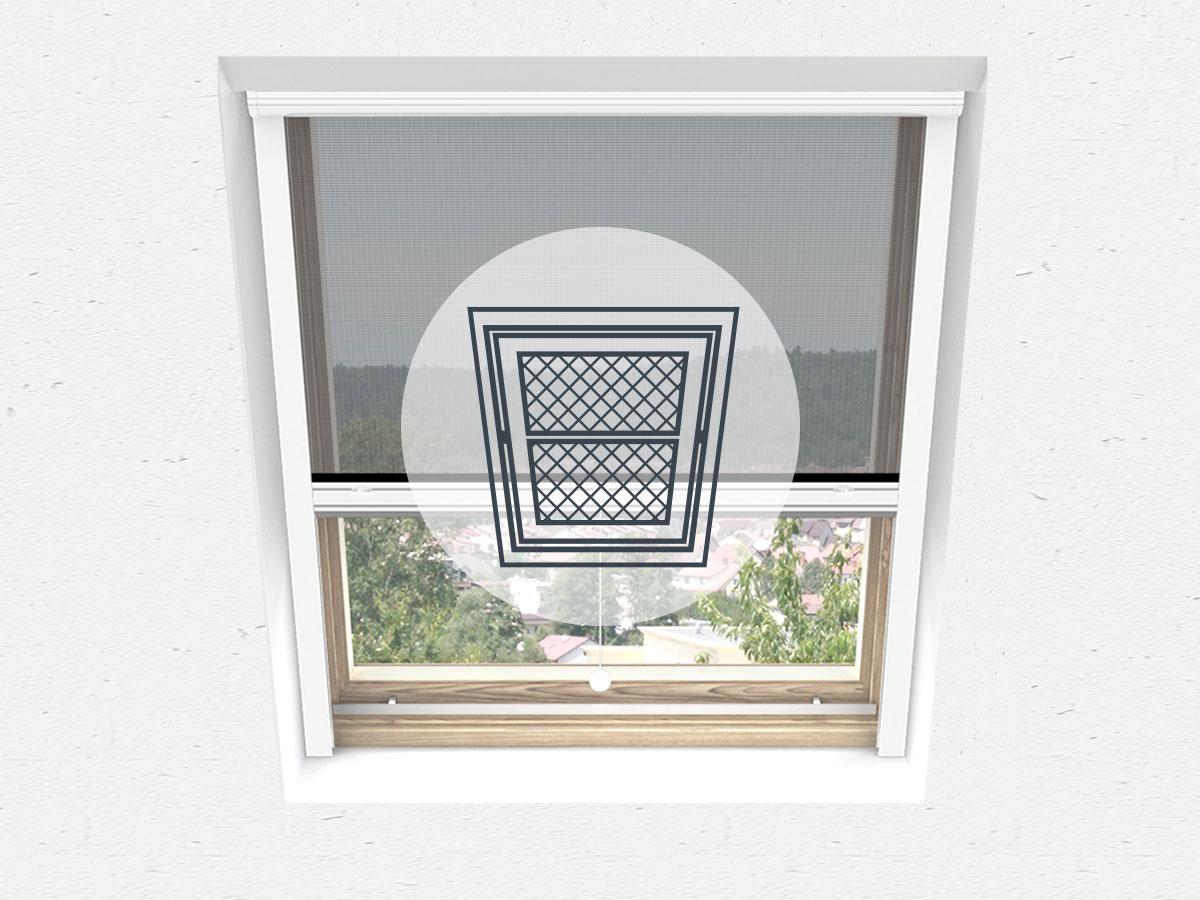 Innen Insektenschutz Alu Dachfenster Plissee Fliegengitter mehrere Auswahl