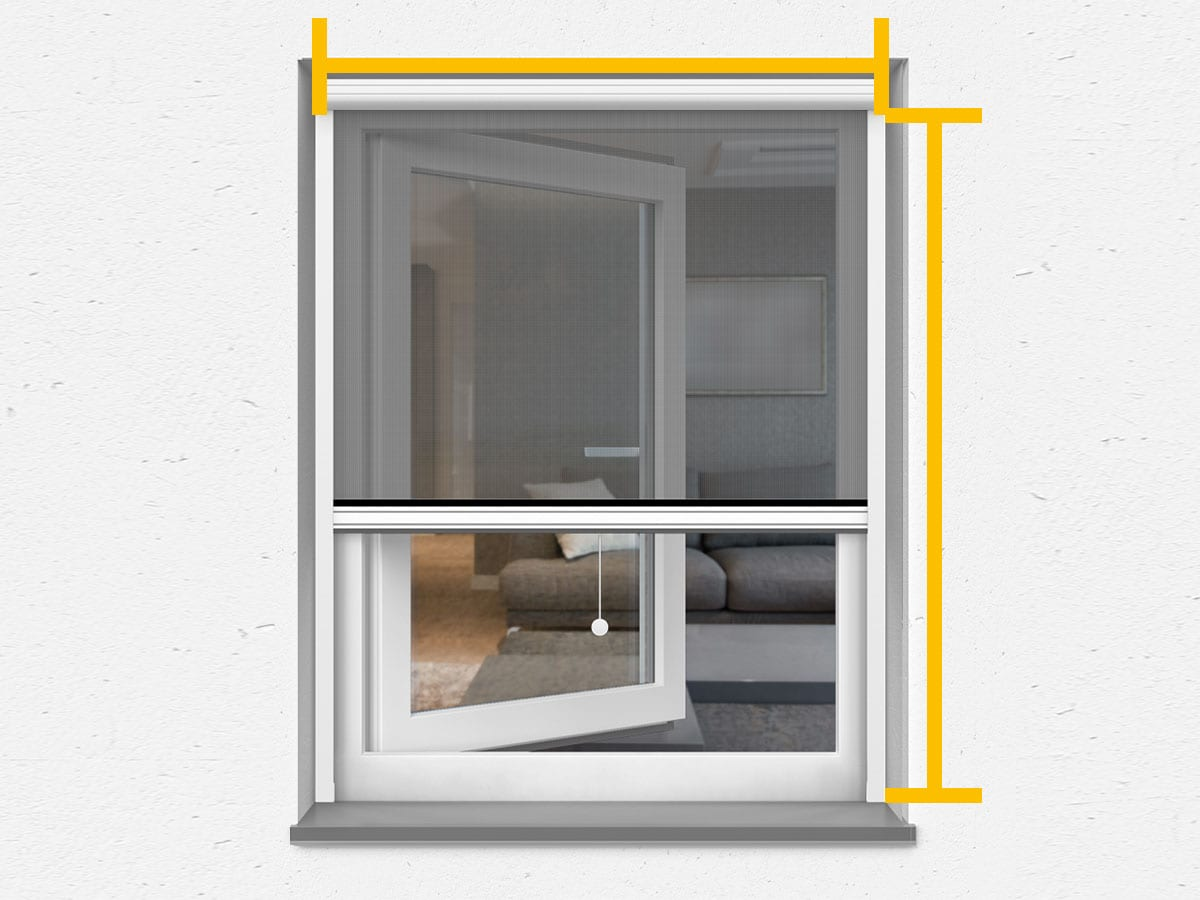 Gazefenster mit rahmen