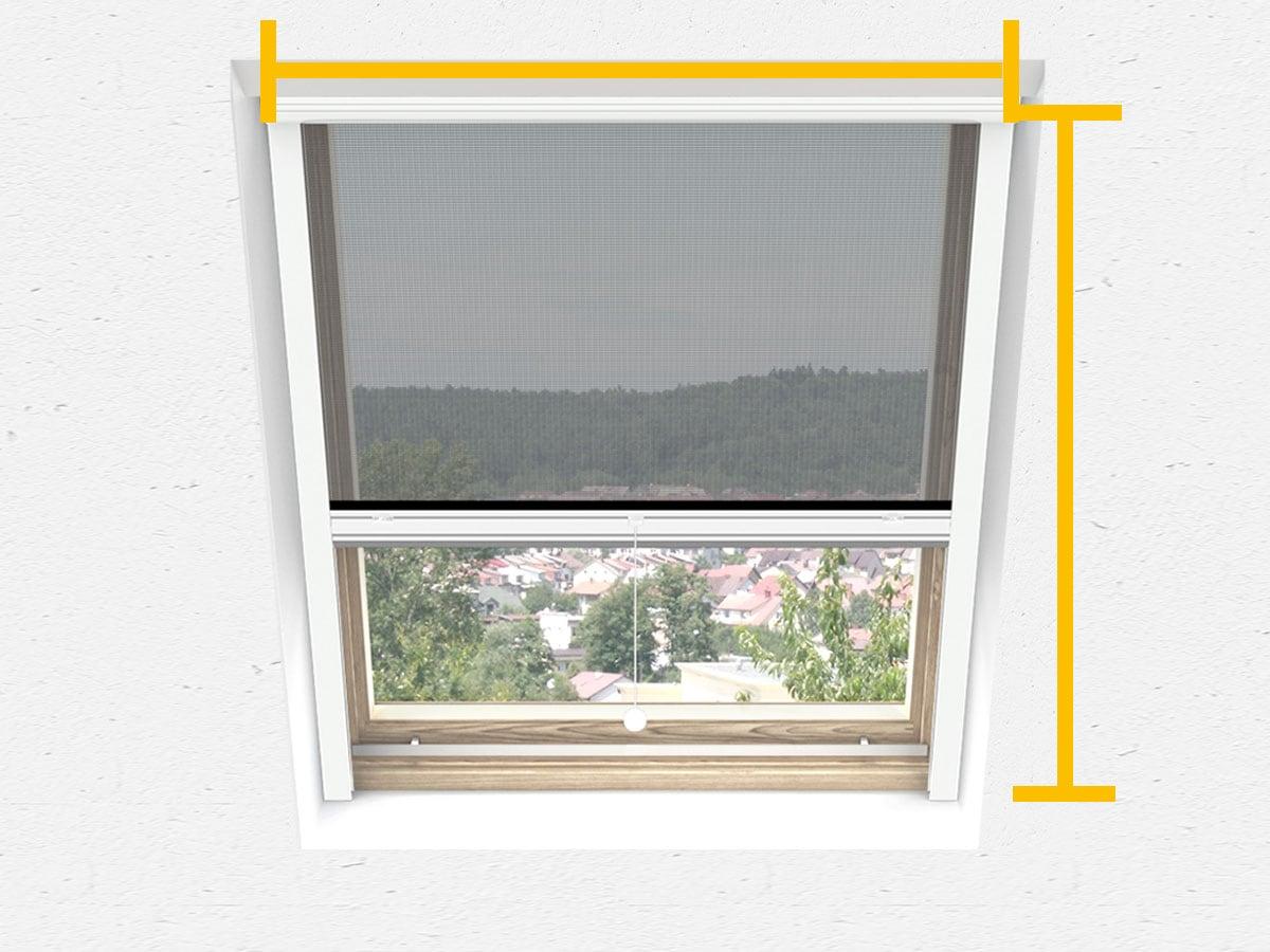 Insektenschutz Dachfenster Fliegenschut Velux anthrazit