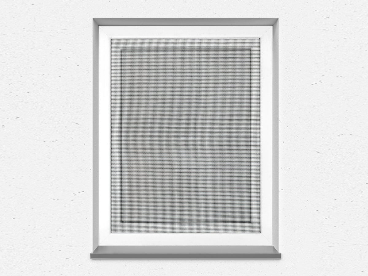 Fliegengitter f/ür Dachfenster individuell k/ürzbar; Rahmen wei/ß; Netz anthrazit 160 x 110 cm