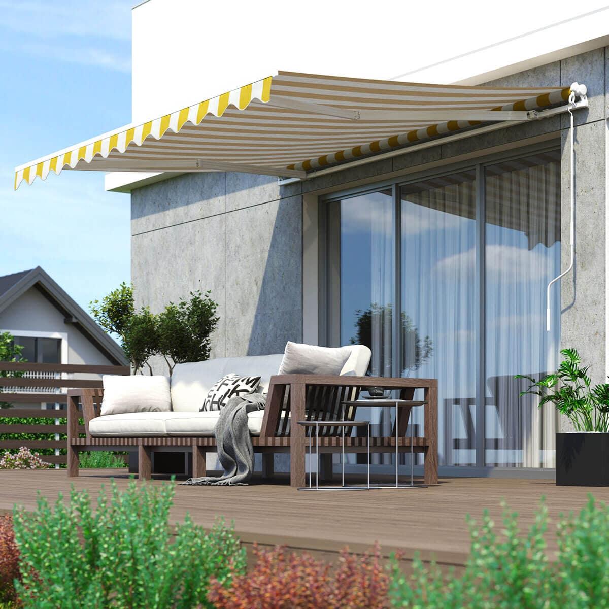 gelenkarm markise 6m broxsun acapulco breite bis m auslage bis m with gelenkarm markise 6m. Black Bedroom Furniture Sets. Home Design Ideas