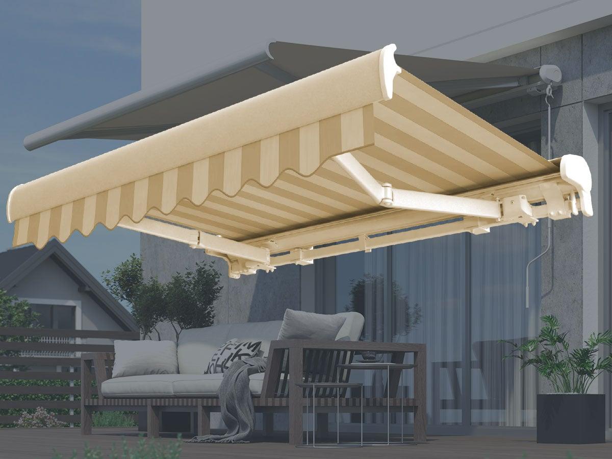 markise 2 50m breit latest m x elektrische alu gelenkarm. Black Bedroom Furniture Sets. Home Design Ideas