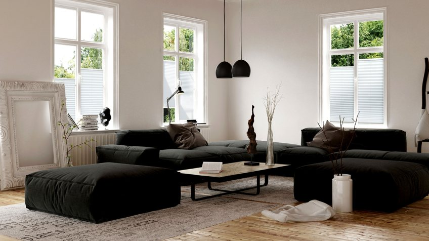plissee jede farbe gr e variante plissees g nstig. Black Bedroom Furniture Sets. Home Design Ideas