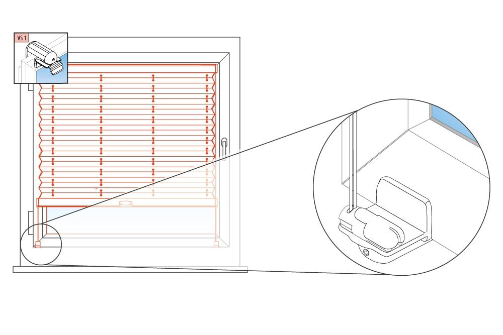 plissee zubehr spannschuh top plissee orange with plissee. Black Bedroom Furniture Sets. Home Design Ideas