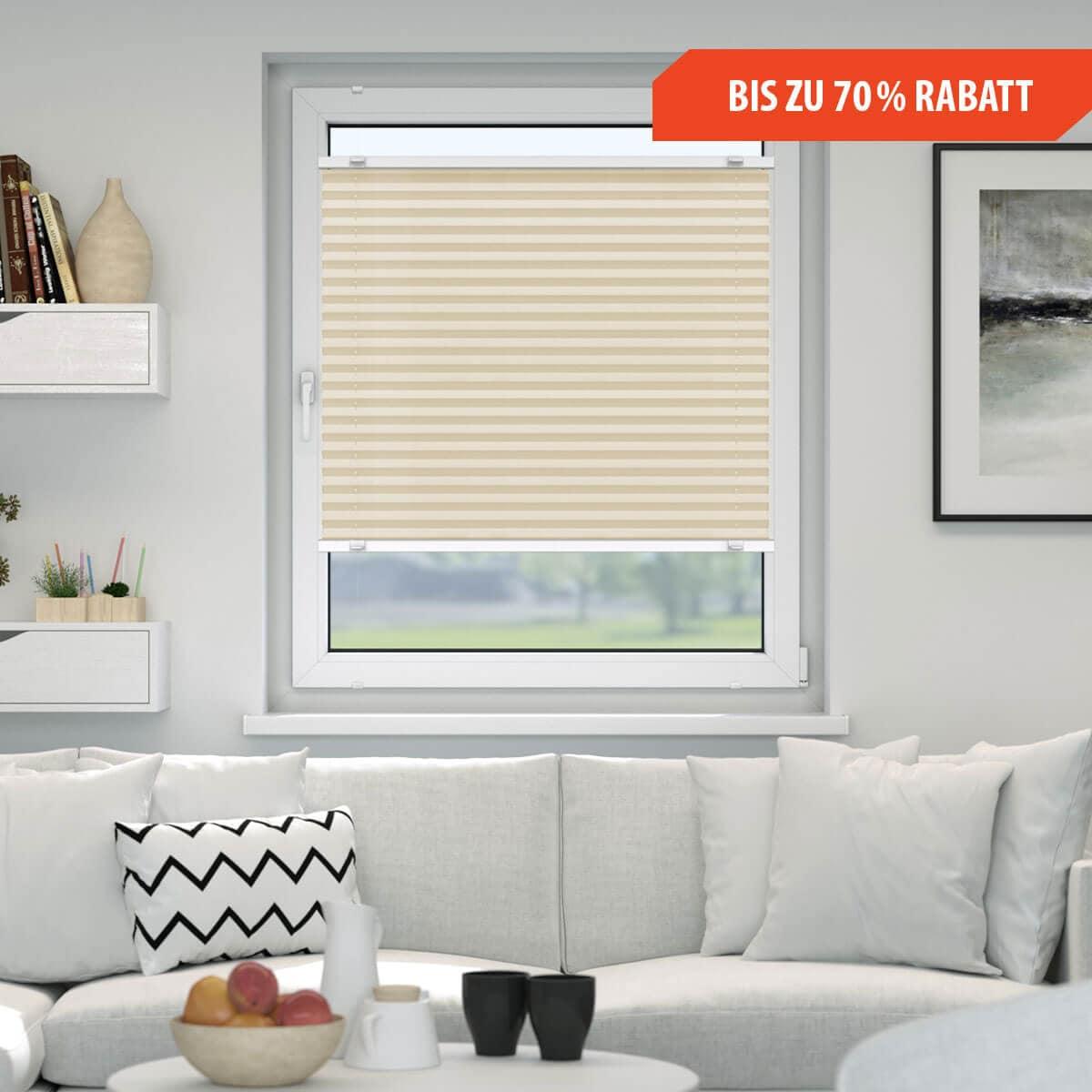 plissee ohne bohren klemmfix plissee oder zum kleben. Black Bedroom Furniture Sets. Home Design Ideas