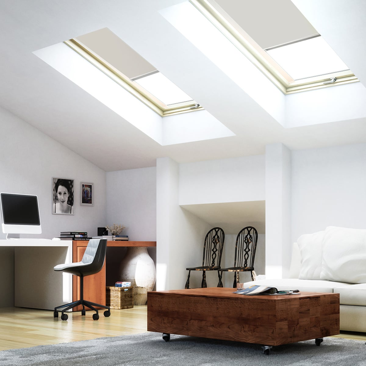 impressionen rollos doppelrollos bambusrollos raffrollos. Black Bedroom Furniture Sets. Home Design Ideas