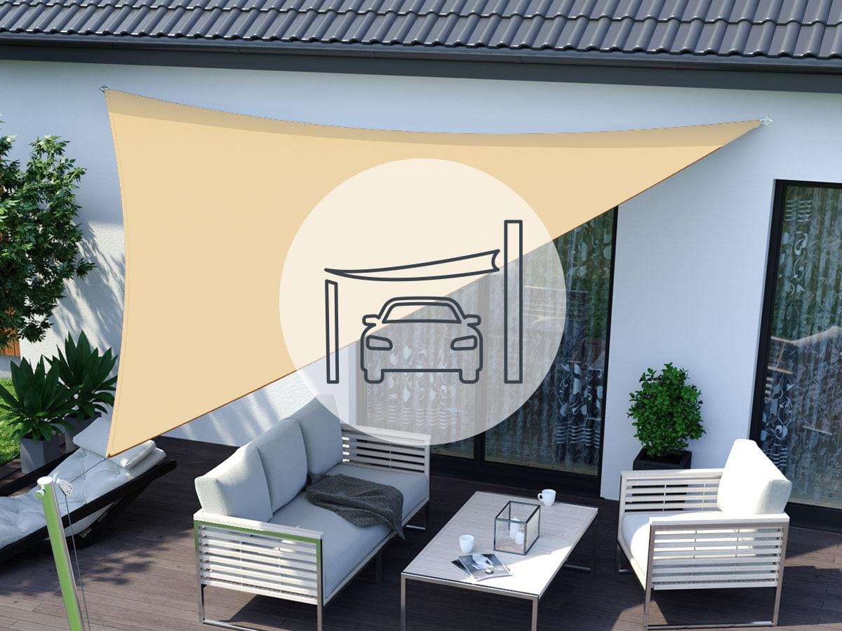 Sonnensegel » für Terrasse, Balkon & Garten kaufen