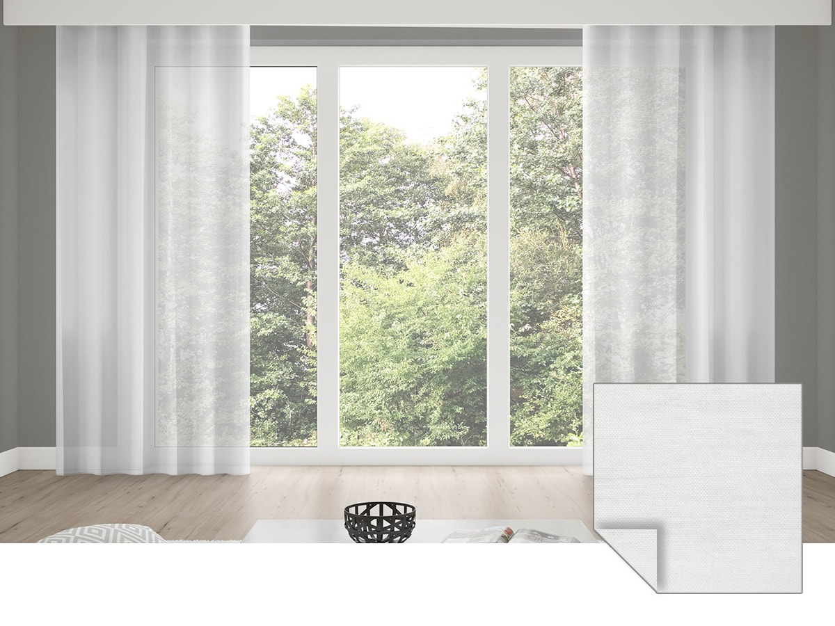 Premium Gardinenschal | transparent, Natur-Optik