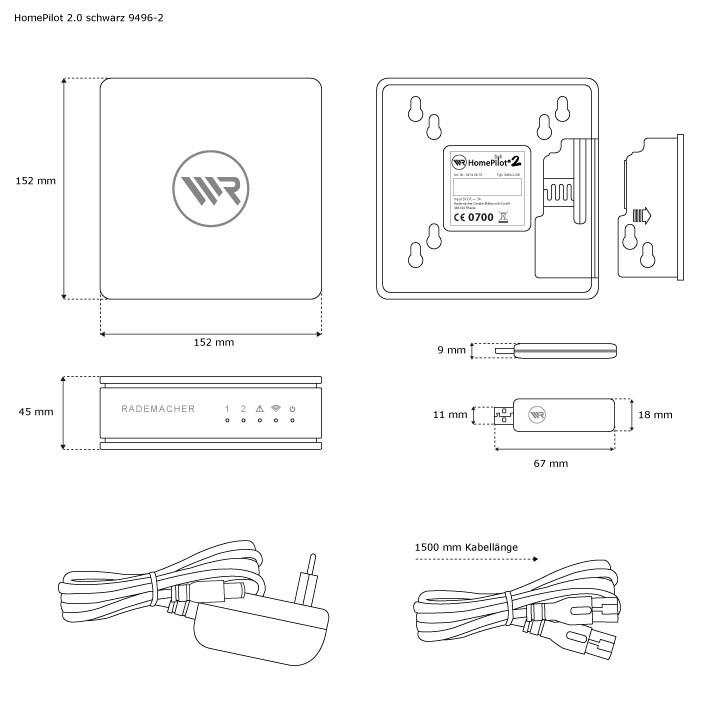 hausautomatisierung komplettsystem rademacher homepilot 2 haussteuerung zentrale ebay. Black Bedroom Furniture Sets. Home Design Ideas