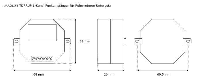 Funkempfänger Unterputz Funkmodel UP Unterputzmontage Rohrmotor Funk JAROLIFT