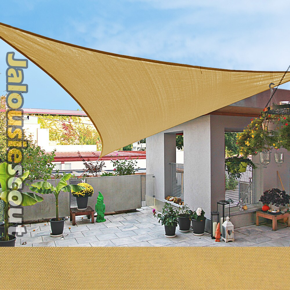 sonnensegel weiss 420 x 420 x 600cm 6x4 2x4 2m windschutz dreieck balkon ebay. Black Bedroom Furniture Sets. Home Design Ideas