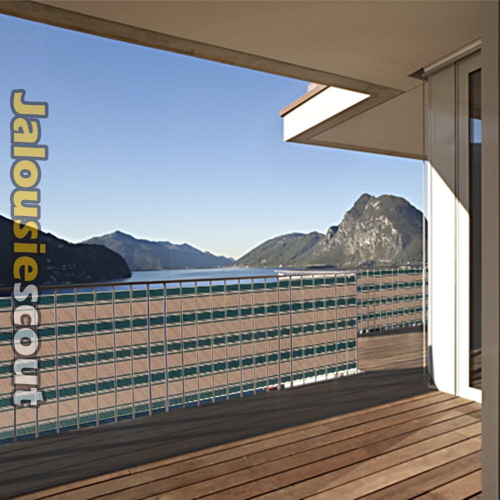 balkon sichtschutz 3m o 5m l nge viele farben balkonstoff atmungsaktiv ebay. Black Bedroom Furniture Sets. Home Design Ideas