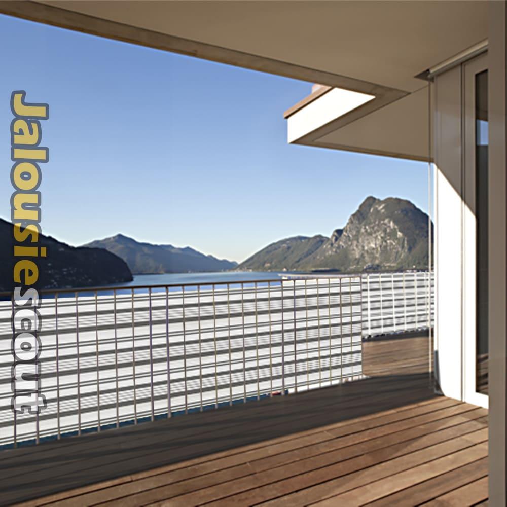 Balkon Sichtschutz – 3m o 5m Länge – viele Farben – Balkonstoff