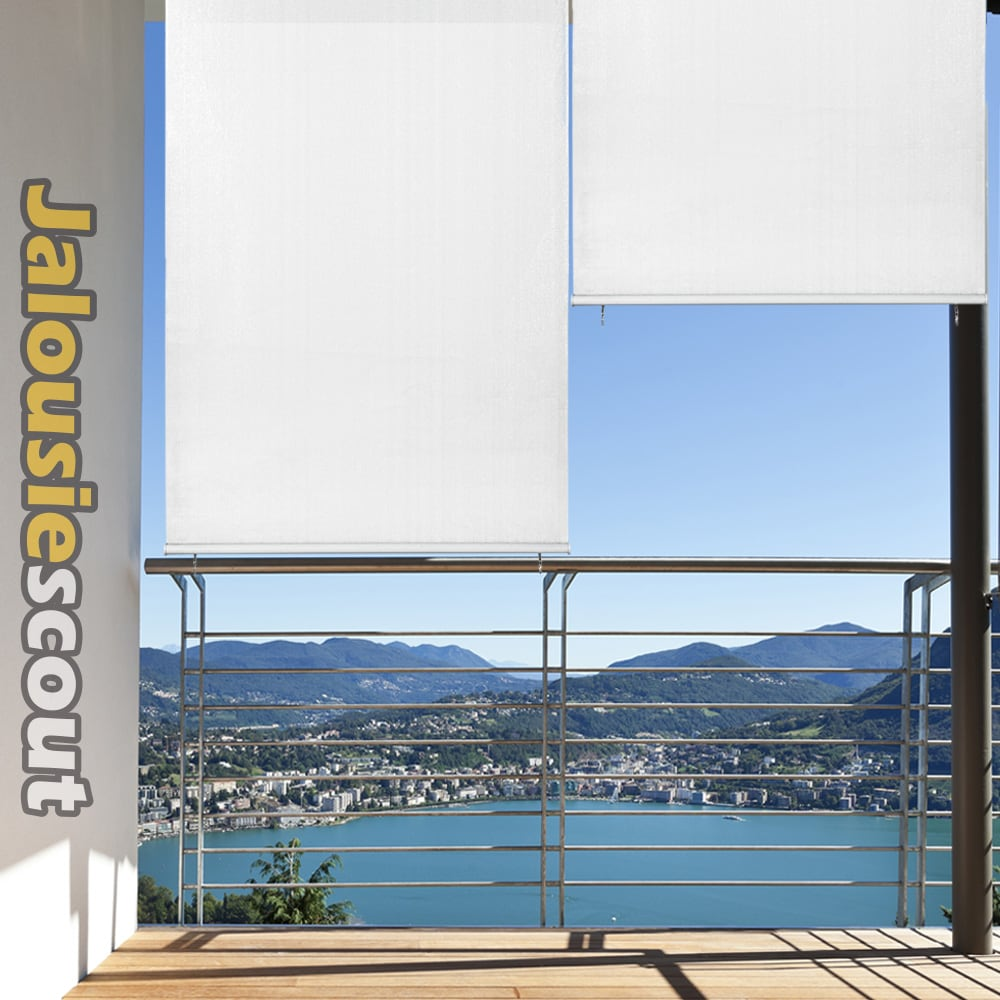 senkrechtmarkise balkon fenster sichtschutz markise windschutz fenstermarkise ebay. Black Bedroom Furniture Sets. Home Design Ideas