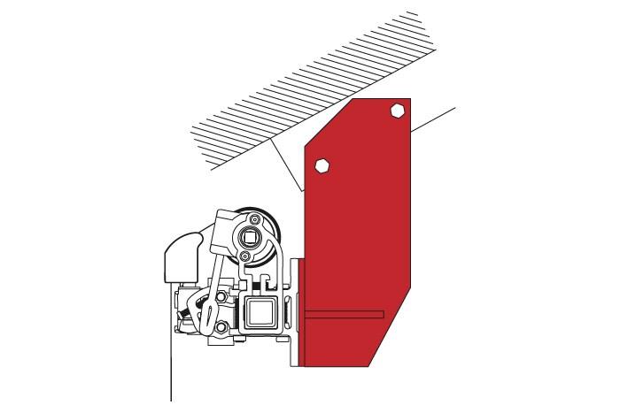 Jarolift Dachsparrenhalter F R Gelenkarmmarkise Basic Plus