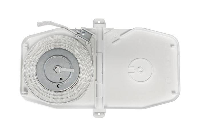 Selve Gurtwickler Aufputz mit Scharniersystem, weiss / inkl. 5m Gurt (084803)