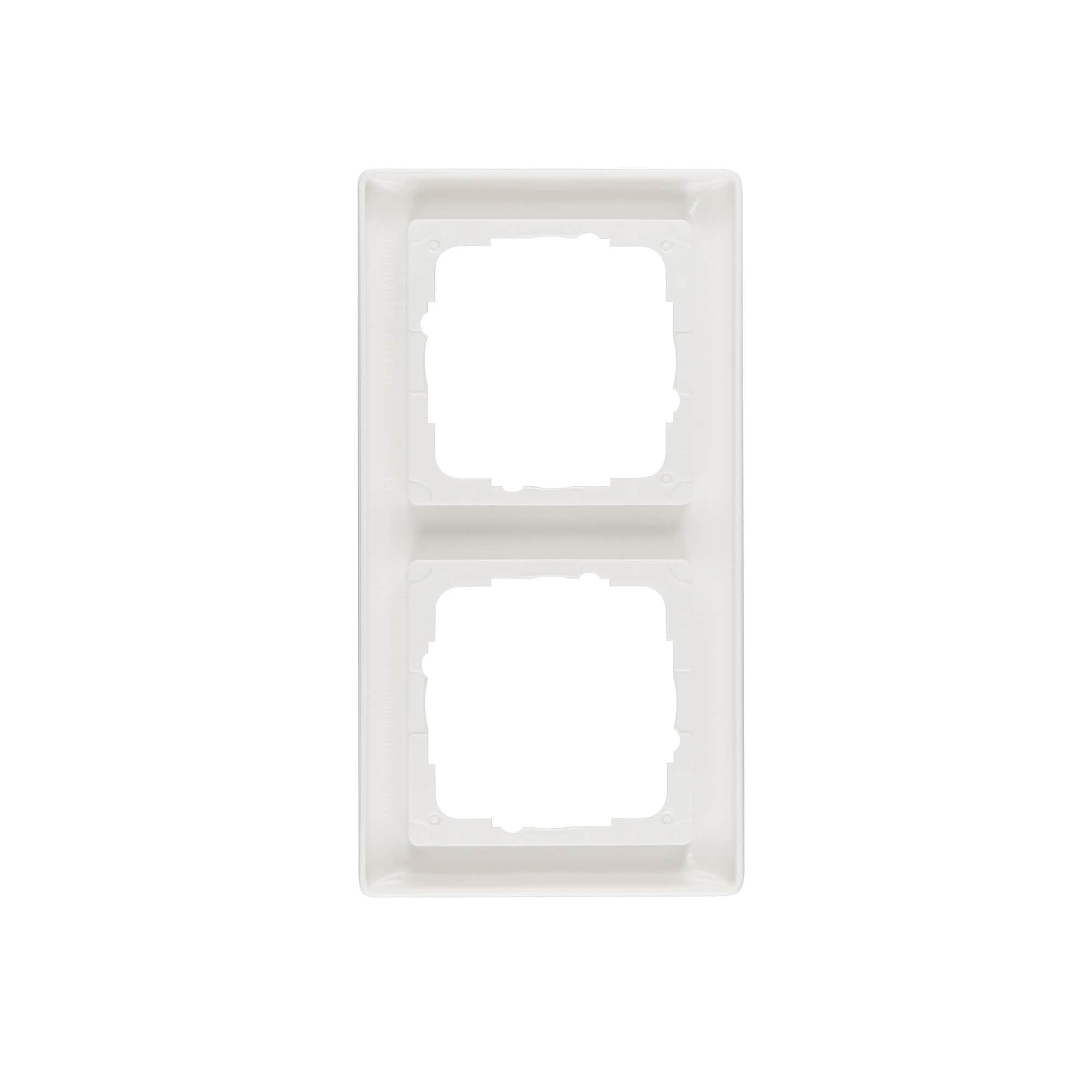 Plaque centrale pour TAE-murale Gira Système 55 Blanc Virginal Brillant Type 027603