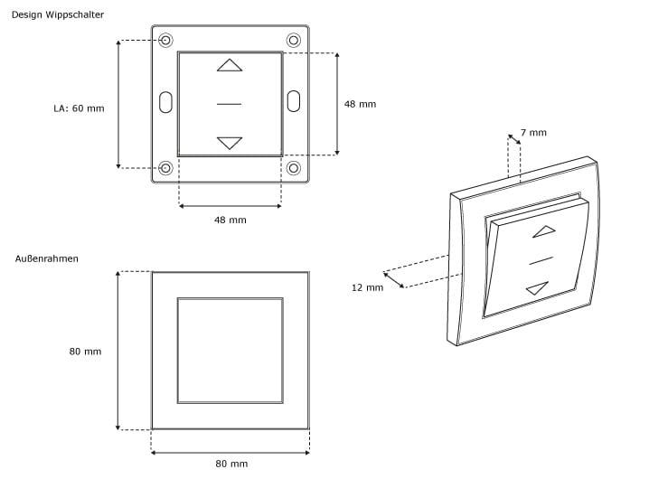 jarolift rolladen tast schalter rollo taster wipp schalter jalousie schalter ebay. Black Bedroom Furniture Sets. Home Design Ideas