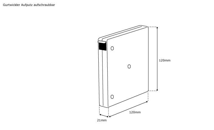 jarolift gurtwickler aufputz aufschraubbar 21mm breit braun ohne gurt 081041. Black Bedroom Furniture Sets. Home Design Ideas