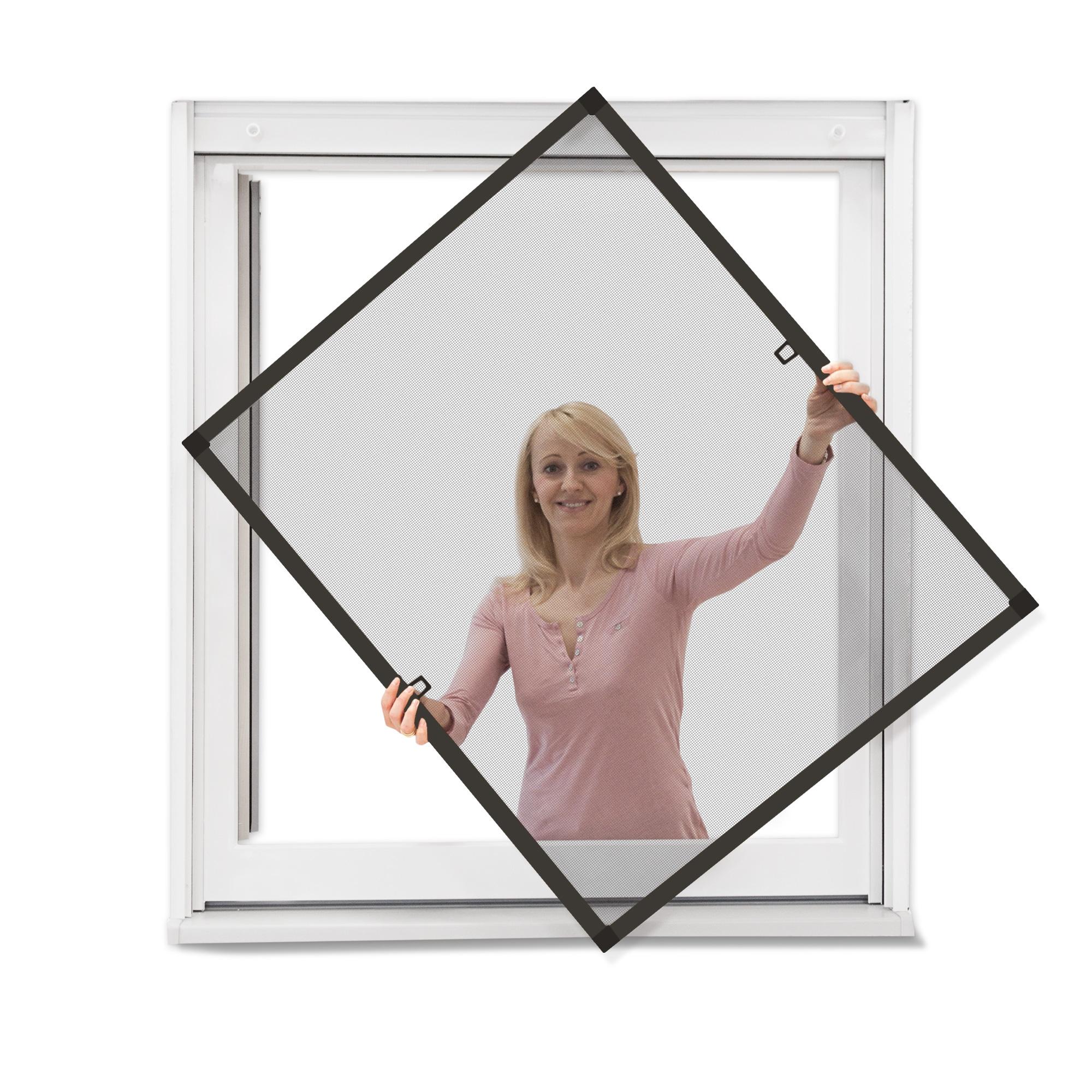 JAROLIFT Insektenschutz Spannrahmen SlimLine f/ür Fenster 60 x 150cm in anthrazit