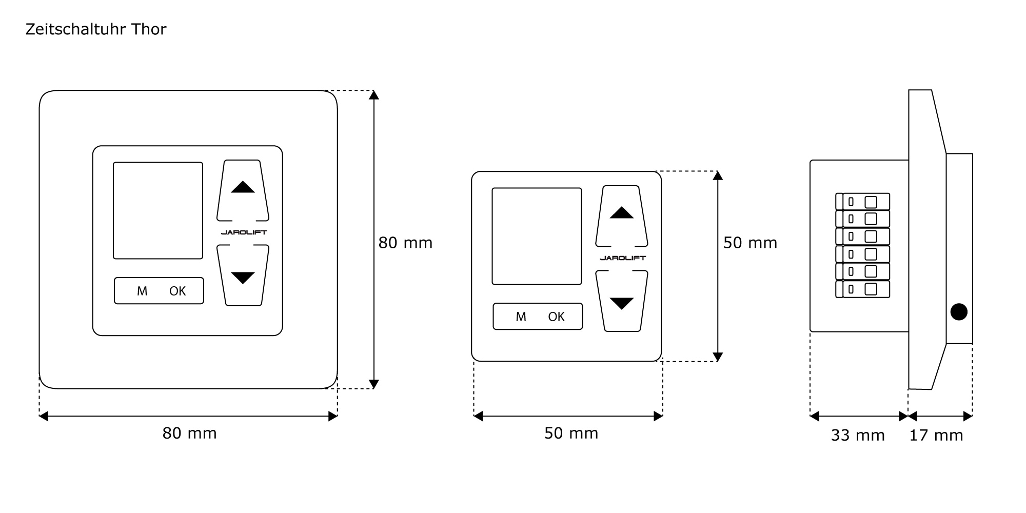 jarolift rolladen thor zeitschaltuhr 1 50m sensor 4251043665800 ebay. Black Bedroom Furniture Sets. Home Design Ideas