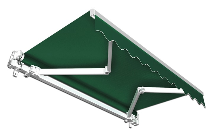 Markise / Gelenkarmmarkise Basic - JAROLIFT Uni Grün