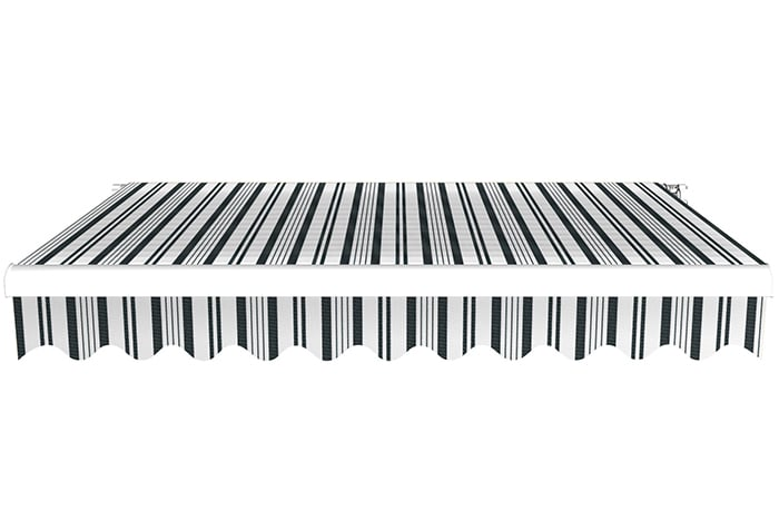 Markise / Gelenkarmmarkise Basic - JAROLIFT Multistreifen Grau-Weiß