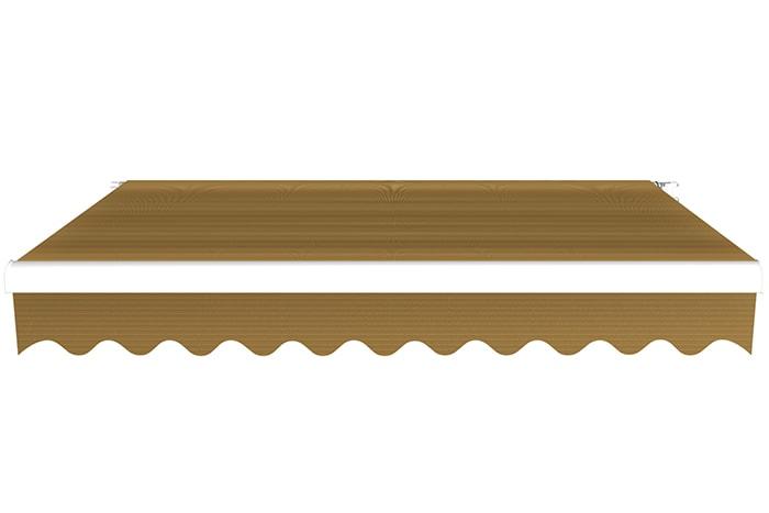 Markise / Gelenkarmmarkise Basic - JAROLIFT Uni Braun