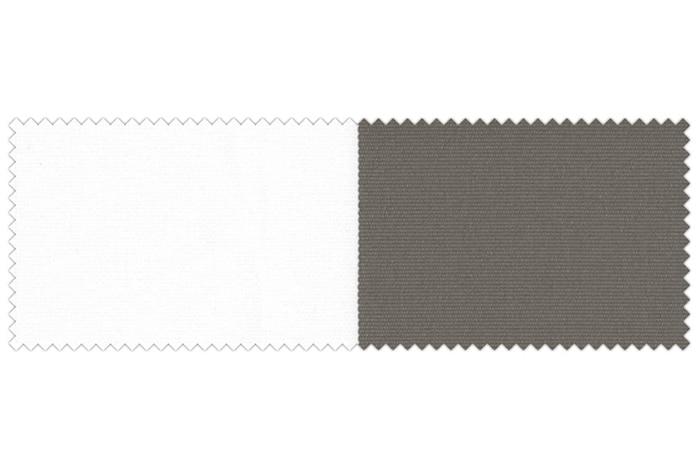 Markise / Gelenkarmmarkise Basic - JAROLIFT Blockstreifen Hellgrau-Weiß