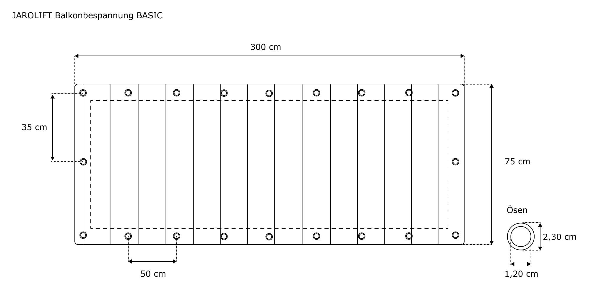 Jarolift Balkonbespannung Sichtschutz Balkon Zaun Windschutz