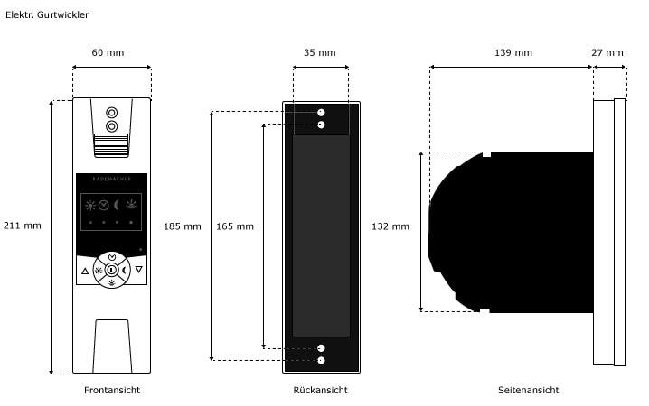 rademacher rollotron standard mini 1340 gurtwickler elektrisch rolladen antrieb ebay. Black Bedroom Furniture Sets. Home Design Ideas