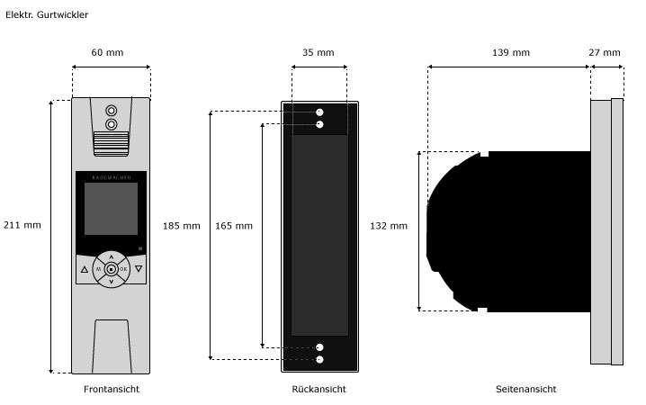 rademacher rollotron elektrischer gurtwickler rolladenmotor rollo rollomotor ebay. Black Bedroom Furniture Sets. Home Design Ideas