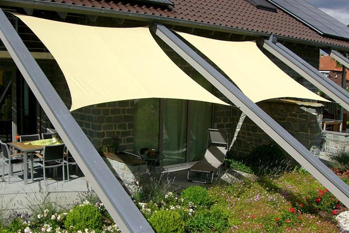 sonnensegel sonnenschutzsegel quadrat viereck rechteck windschutz viereckig ebay. Black Bedroom Furniture Sets. Home Design Ideas