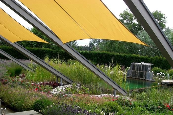 Sonnensegel fr den garten good moderne sonnensegel - Sonnensegel im garten ...