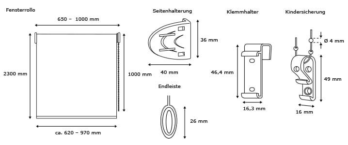 verdunkelungsrollo klemmfix ohne bohren easyfix fensterrollo t rrollo klemmrollo ebay. Black Bedroom Furniture Sets. Home Design Ideas