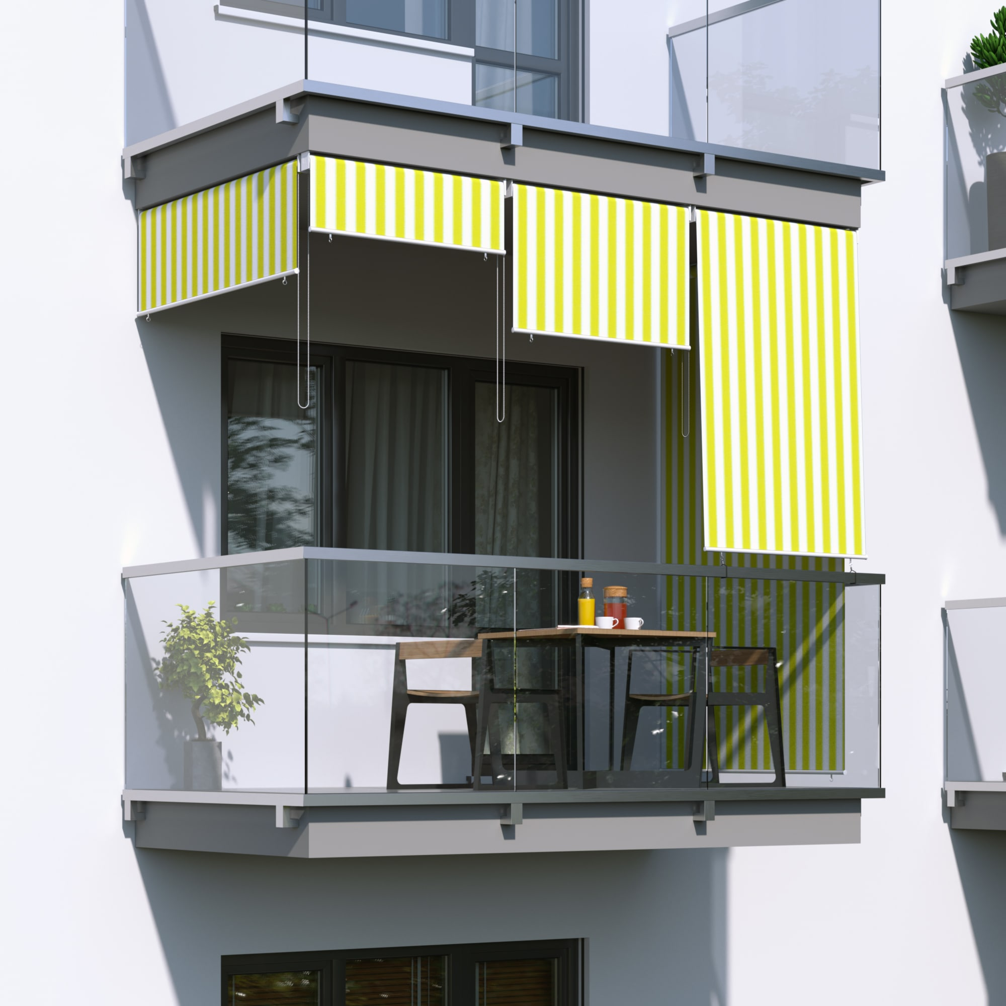 JAROLIFT-Senkrechtmarkise-Sichtschutz-Aussenrollo-Sonnenschutz-Aussen-Rollo-Balkon Indexbild 23