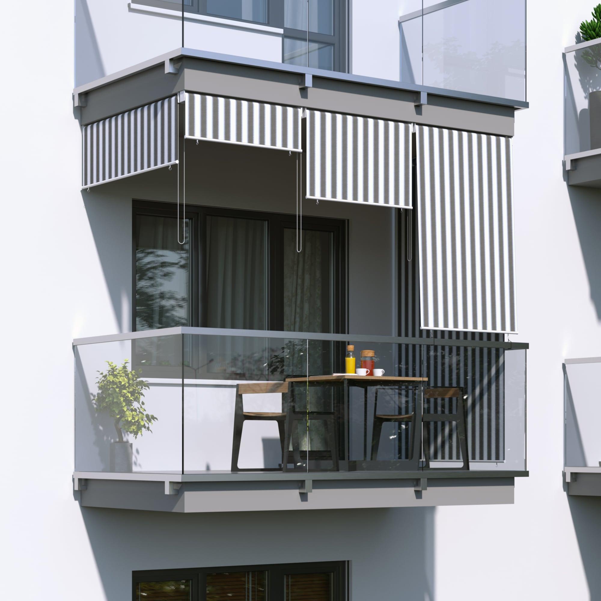 JAROLIFT-Senkrechtmarkise-Sichtschutz-Aussenrollo-Sonnenschutz-Aussen-Rollo-Balkon Indexbild 33