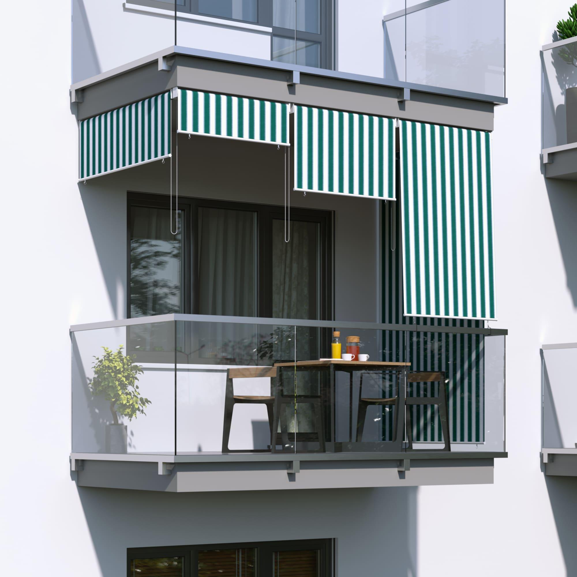 JAROLIFT-Senkrechtmarkise-Sichtschutz-Aussenrollo-Sonnenschutz-Aussen-Rollo-Balkon Indexbild 28