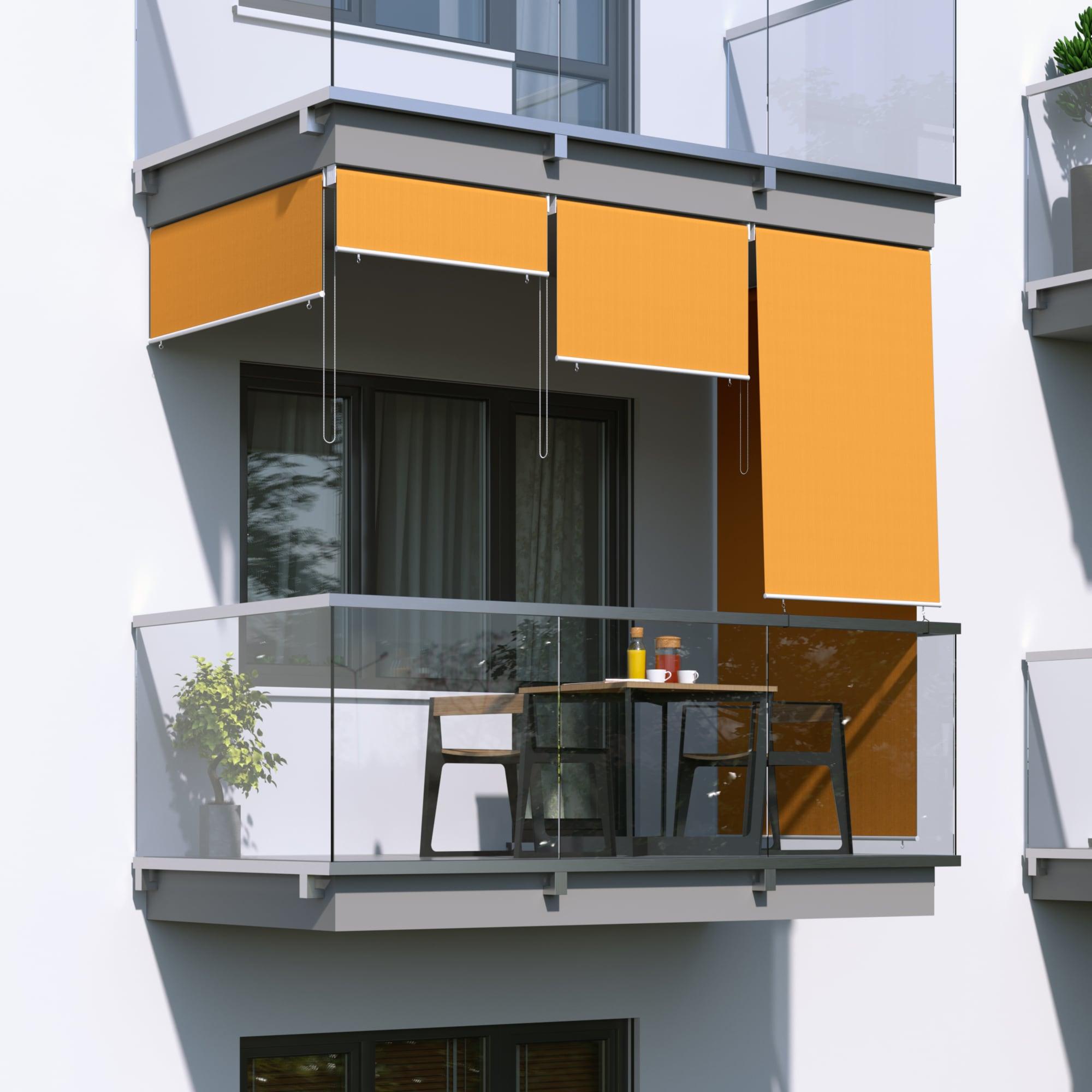 JAROLIFT-Senkrechtmarkise-Sichtschutz-Aussenrollo-Sonnenschutz-Aussen-Rollo-Balkon Indexbild 8
