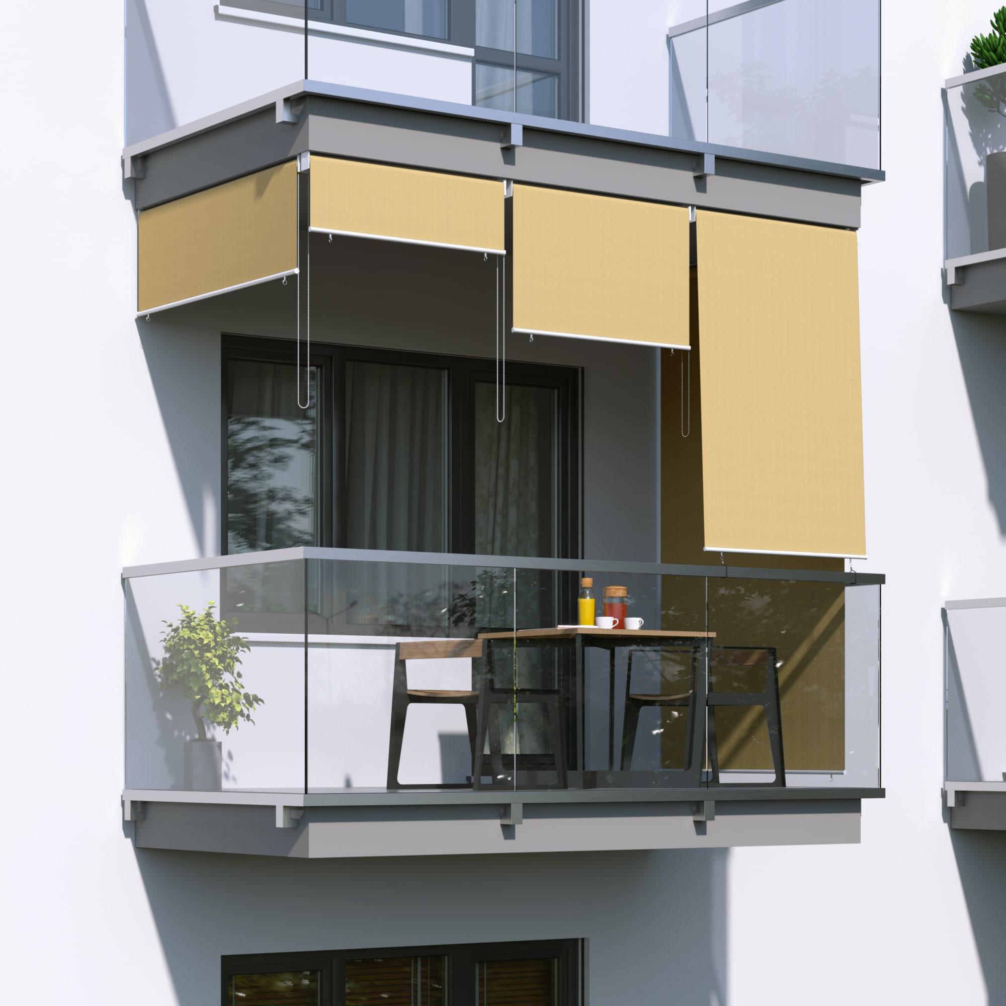 Bevorzugt JAROLIFT Senkrechtmarkise Sichtschutz Außenrollo Sonnenschutz CN57
