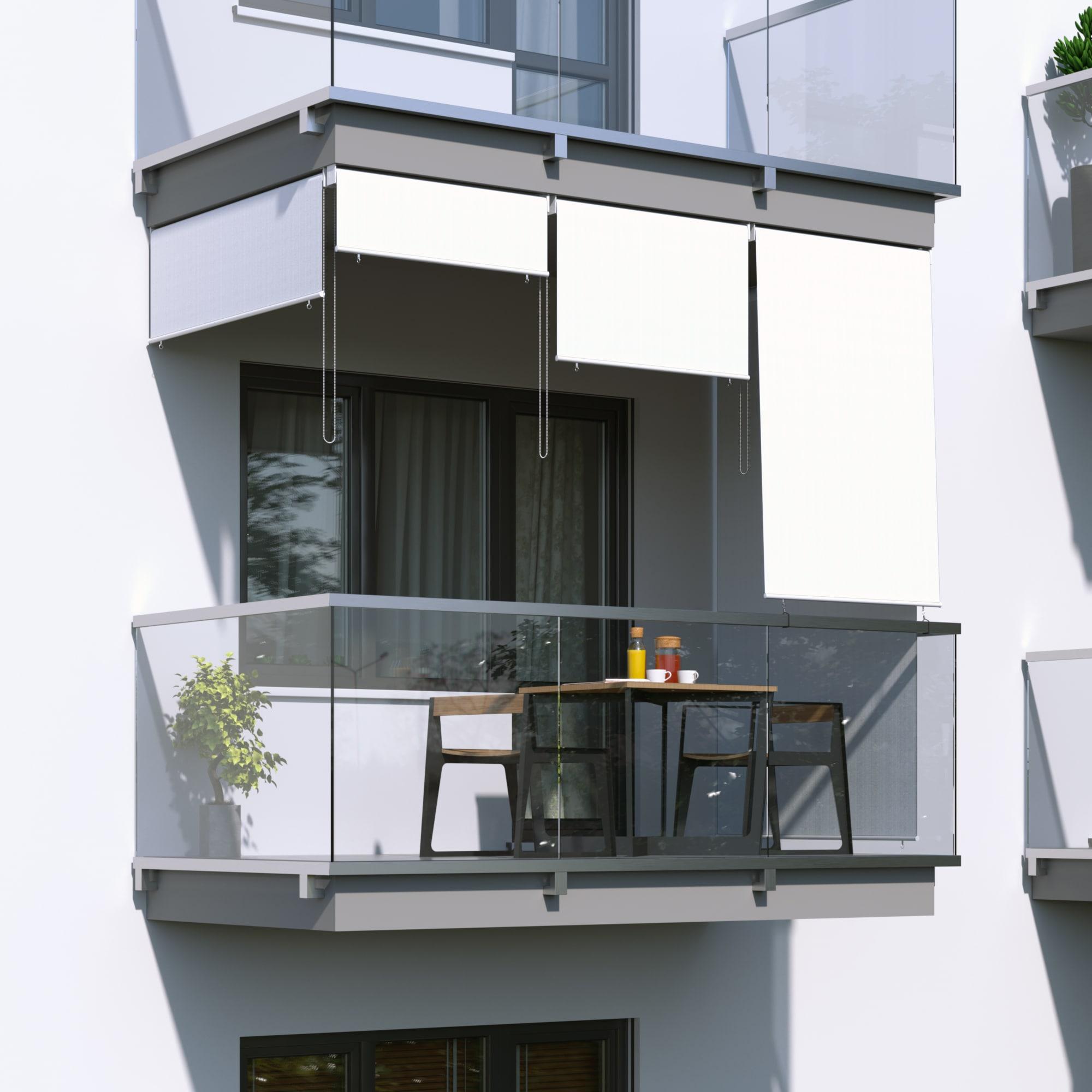 JAROLIFT-Senkrechtmarkise-Sichtschutz-Aussenrollo-Sonnenschutz-Aussen-Rollo-Balkon Indexbild 13