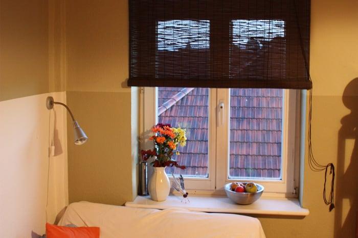 bambusrollo 140 x 160cm in braun fenster sichtschutz bambus rollos victoria m. Black Bedroom Furniture Sets. Home Design Ideas