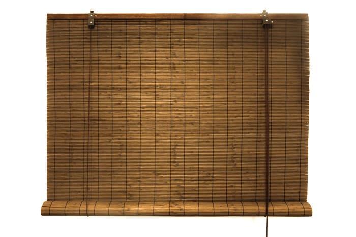 bambus rollo bambusrollo jalousie seitenzugrollo schnurzug 140x160cm braun ebay. Black Bedroom Furniture Sets. Home Design Ideas