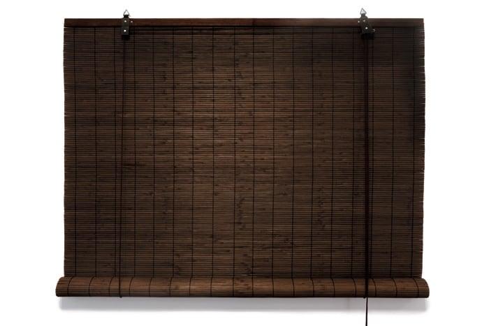 bambus rollo bambusrollo schnurzug fenster kindersicherung 60x160cm dunkelbraun ebay. Black Bedroom Furniture Sets. Home Design Ideas