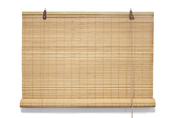 bambus rollo bambusrollo vorhang mit schnurzug kindersicherung 140x160cm natur ebay. Black Bedroom Furniture Sets. Home Design Ideas