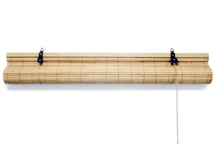 bambusrollo bambus rollo f r fenster mit schnurzug kordel rolllo. Black Bedroom Furniture Sets. Home Design Ideas