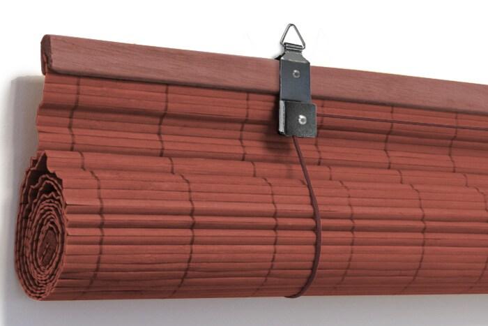 Bambusrollo easyfix klemm halter bambus rollo vorhang for Vorhang zugsystem