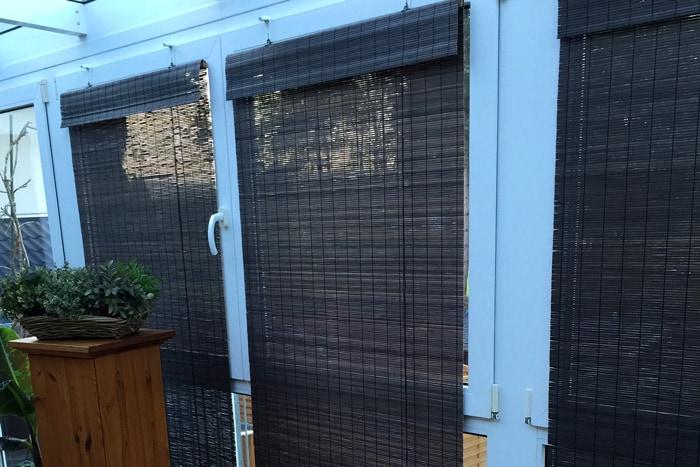 victoria m bambus raffrollo in braun detailansicht bambusst bchen pictures to pin on pinterest. Black Bedroom Furniture Sets. Home Design Ideas