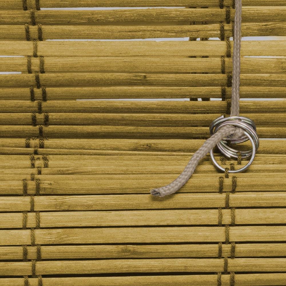 Store-bateau-en-bambou-pour-l-039-interieur-corde-rideaux-stores-romains-VICTORIA-M miniature 9