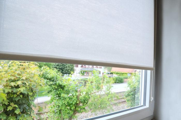 klemmfix strukturrollos in naturstoffoptik. Black Bedroom Furniture Sets. Home Design Ideas